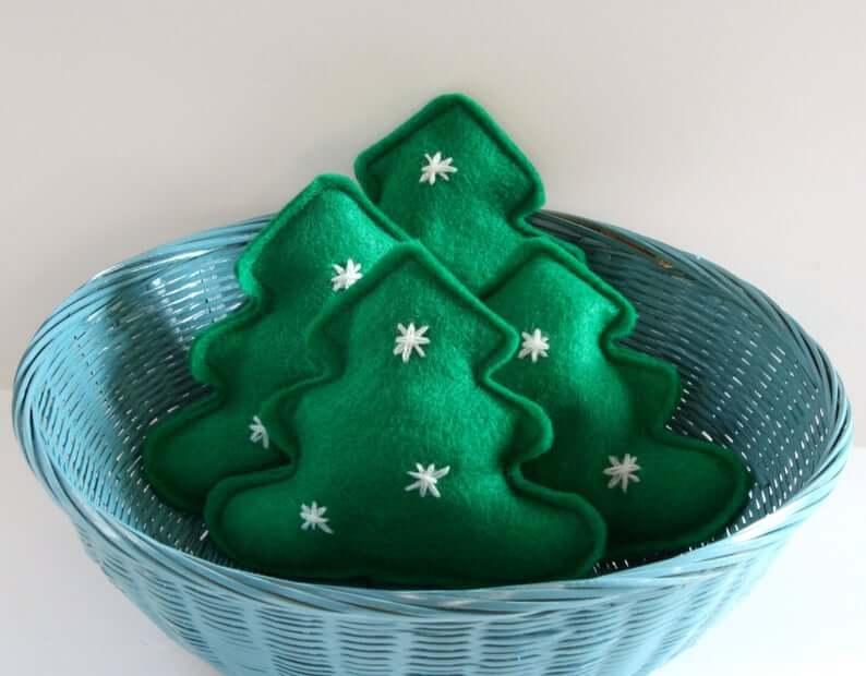 Catnip Christmas Tree Felt Cat Toy