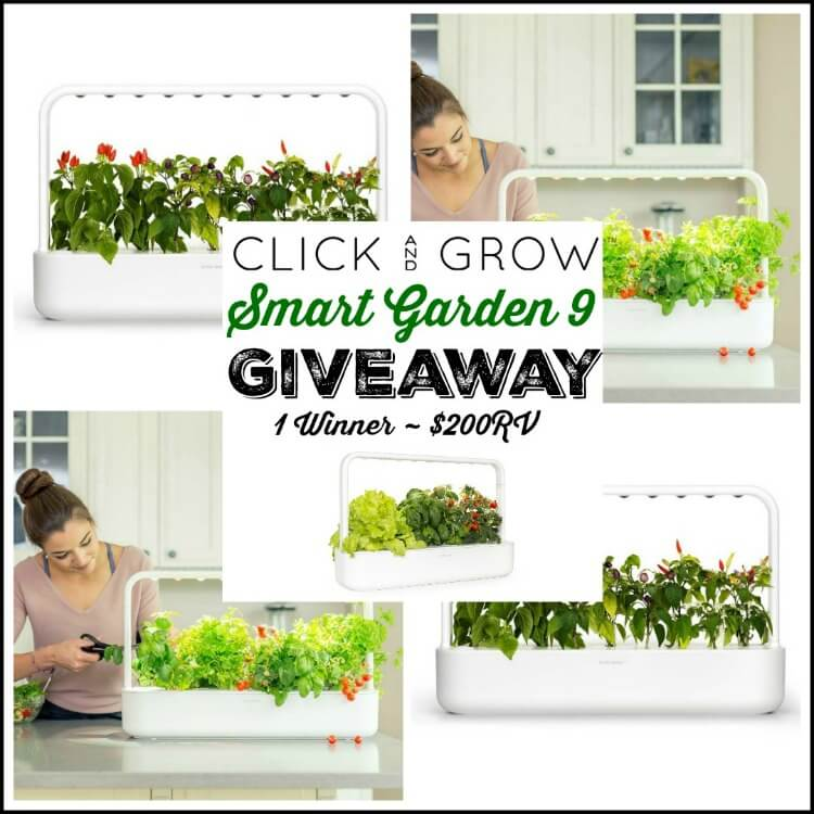 Click & Grow Smart Garden 9 Giveaway {Ends 12/18}