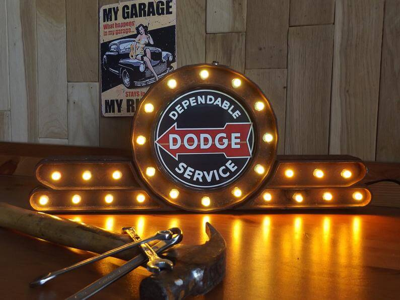 Rusted Dodge mancave sign