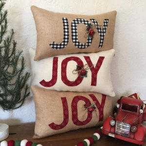 Joy Holiday Pillows