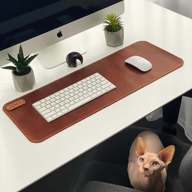 Leather desk mat