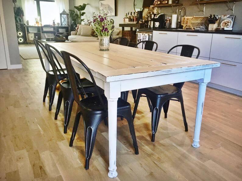 Large rustic farmhouse table