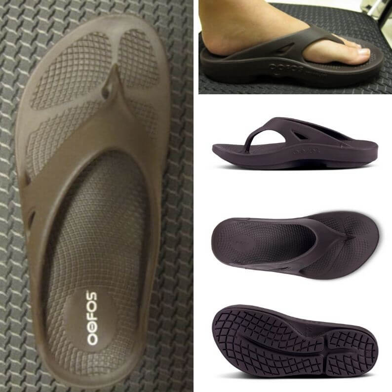 OOFOS Mocha Thong Sandals with OOFoam