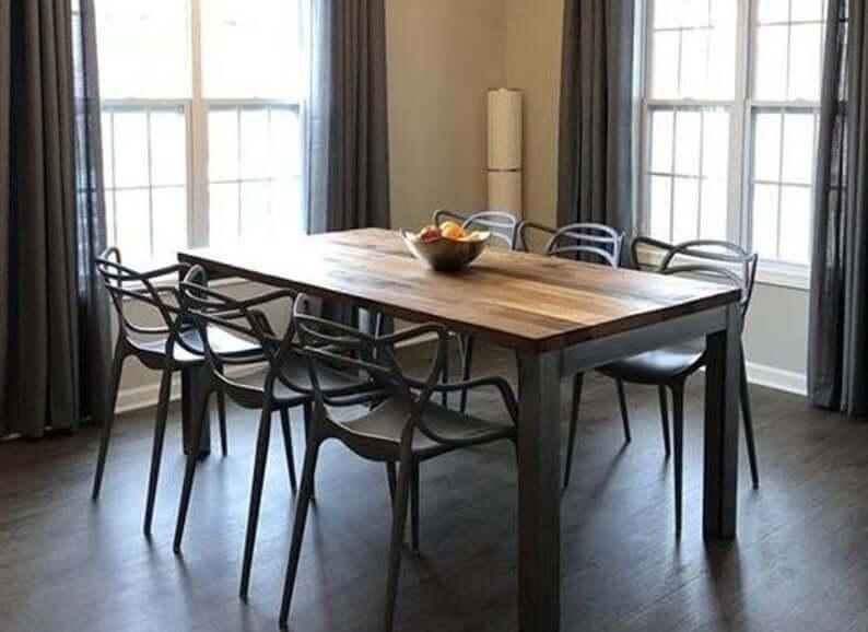 Modern Industrial Kitchen Table
