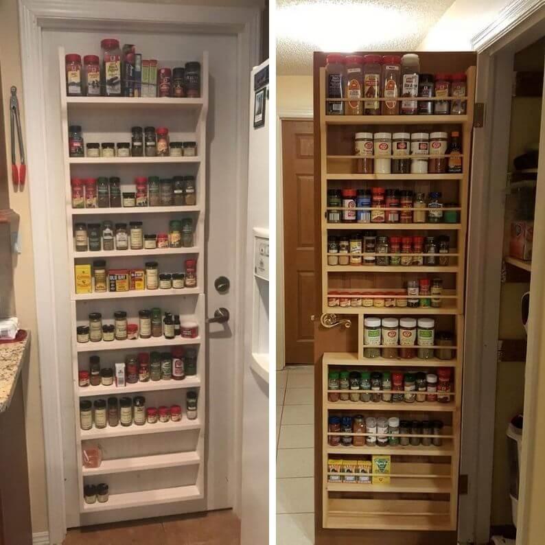 Pantry Door Spice Rack