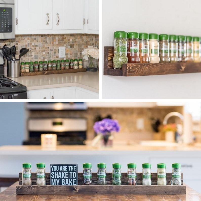 Kitchen Spice Rack Storage Ideas